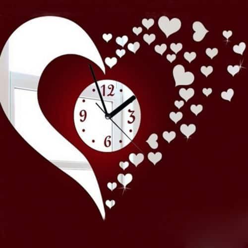 Zidni sat srce