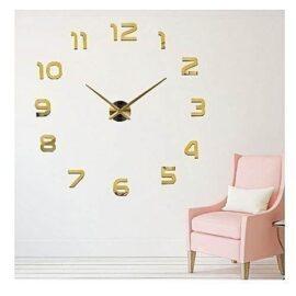 3D zidni sat 1 zlatni 65-100