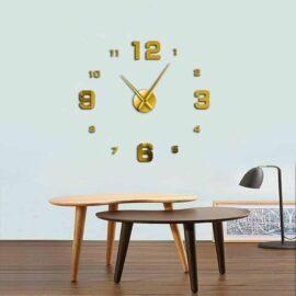 3D zidni sat 2 zlatni 80-120cm