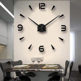 3D zidni sat 3 crni 80-120cm