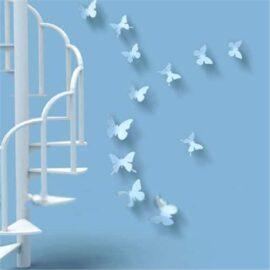 3D leptiri bijeli jednobojni, Akcija 1+1