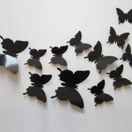 3D leptiri crni jednobojni, Akcija 1+1