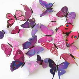 3D leptiri ljubičasti šareni