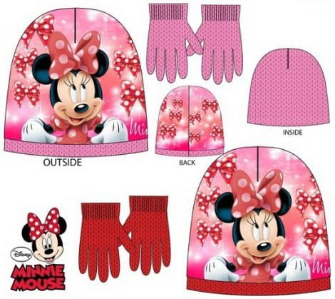Luma shop Disney Minnie kapa i rukavice set