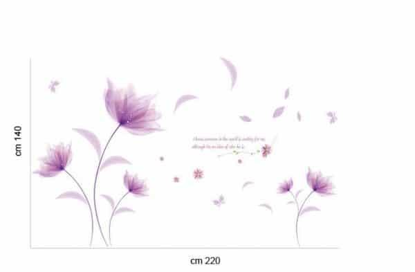 luma shop naljepnica cvijet ljubičasti