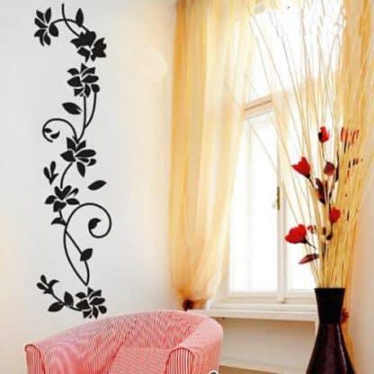 luma shop naljepnica cvijet crni