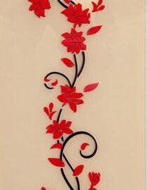 Cvijet ornament crveni