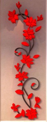 luma shop naljepnica 3d akril cvijet ornament