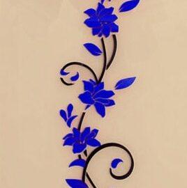 Cvijet ornament plavi