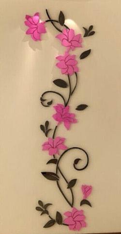 luma shop naljepnica 3d akril ornament cvijet