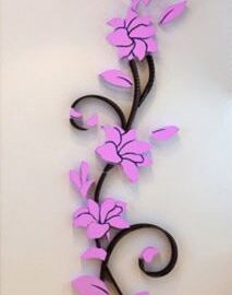Cvijet ornament ljubičasti