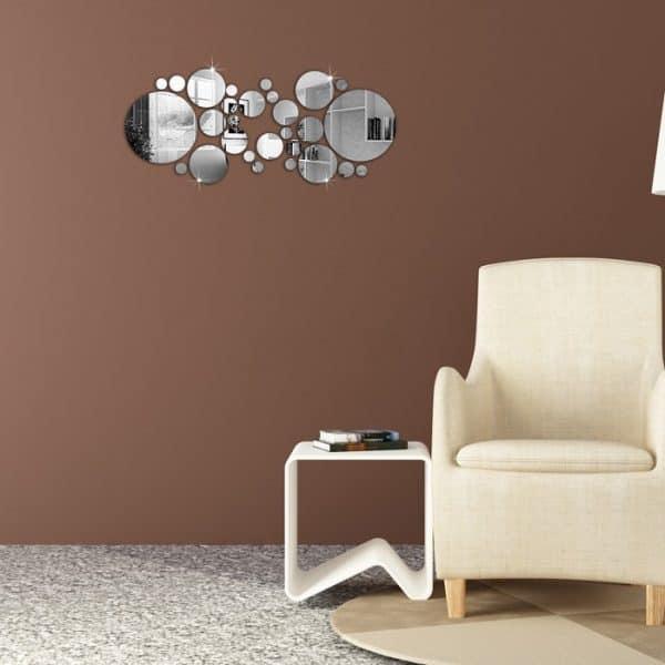luma shop naljepnica 3d akril ogledalo krugovi