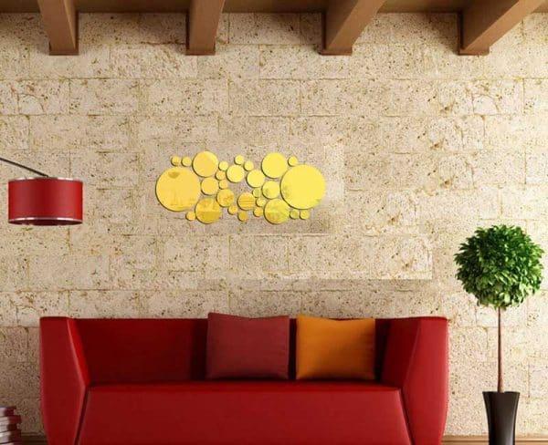 luma shop naljepnica 3d akril zlatni