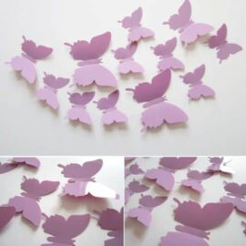 3D leptiri ljubičasti jednobojni, Akcija 1+1