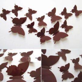 3D leptiri smeđi jednobojni, Akcija 1+1