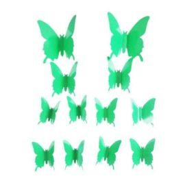 3D leptiri svijetlo zeleni jednobojni, Akcija 1+1