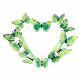 3D naljepnica – leptiri zeleni šareni, Akcija 1+1