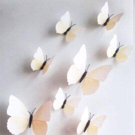 3D leptiri bijeli prugasti, Akcija 1+1