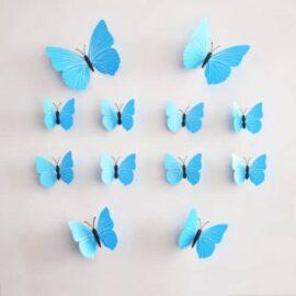 3D leptiri plavi prugasti