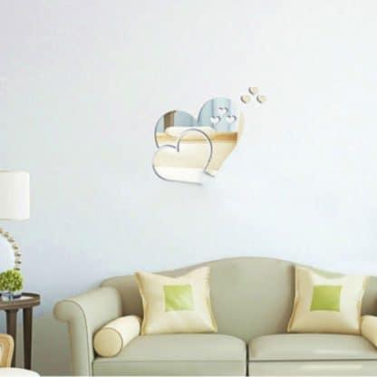luma shop naljepnica 3d akril srce ogledalo