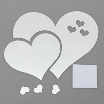 luma shop naljepnica 3d akril srce ogledalo crno