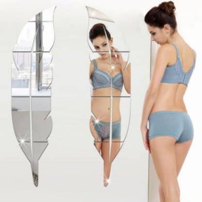 luma shop naljepnica 3d akril pero ogledalo srebrno