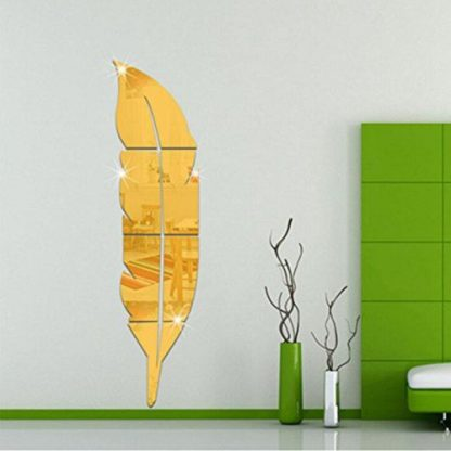 luma shop naljepnica 3d akril pero ogledalo zlatno