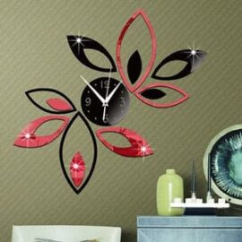 Zidni sat lotus crno-crveni