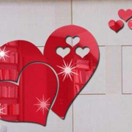 Srce – crveno efekt ogledala