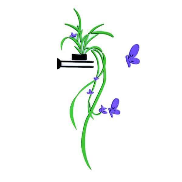 luma shop naljepnica 3d akril cvijet za policu ljubičasti