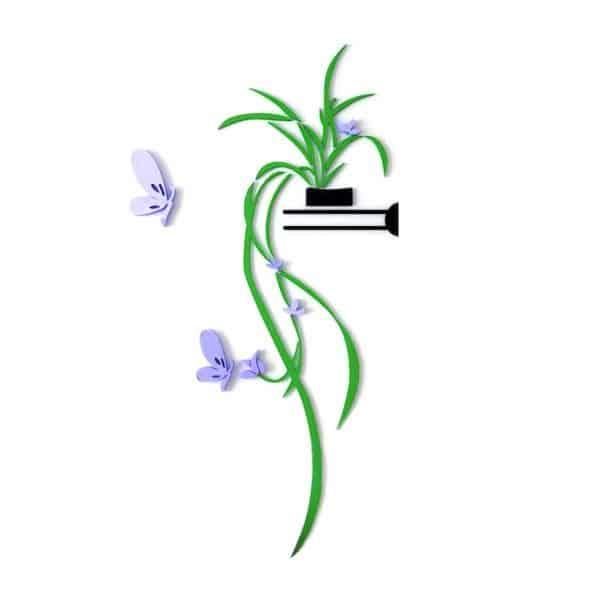 luma shop naljepnica 3d akril cvijet za policu