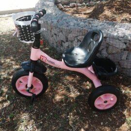 Tricikl dječji rozi sa košarom