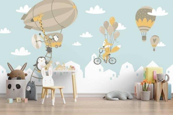 Fototapeta Luma shop dječja zeppelin i pingvini