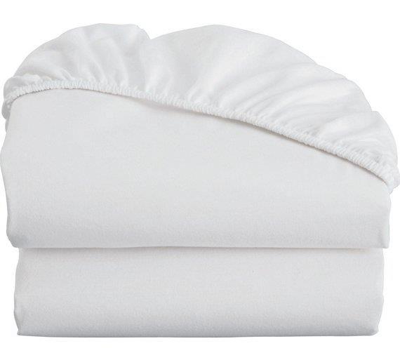 Plahta za dječji krevetić 60x120cm bijela Luma shop