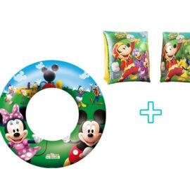 Mickey Mouse kolut za plivanje Disney 56cm promjer + rukavice