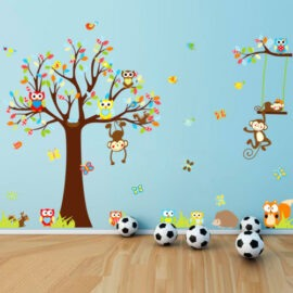 Majmuni na drvetu zidna naljepnica 200x150cm