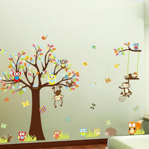 majmuni na drvetu naljepnica luma shop