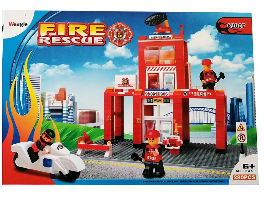 kocke set za slaganje vatrogasci Luma shop
